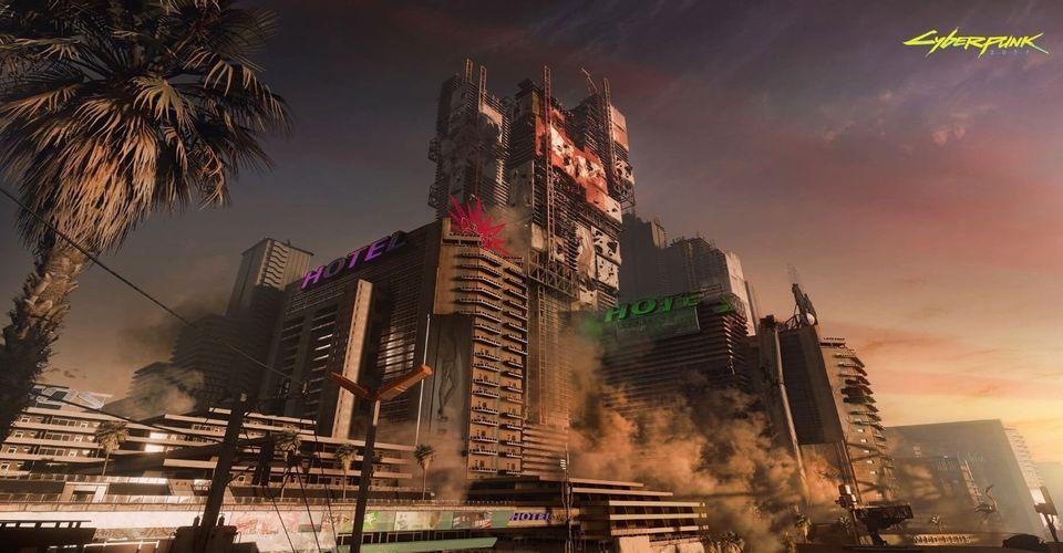 Разработчики Cyberpunk 2077 показали атмосферные фрагменты пустошей