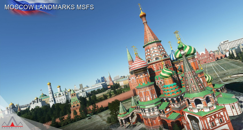 Microsoft Flight Simulator Дополнение Beautiful Moscow Scenery