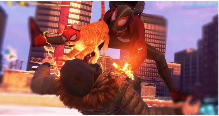 В SpiderMan Miles Morales появится храбрый коткомпаньон