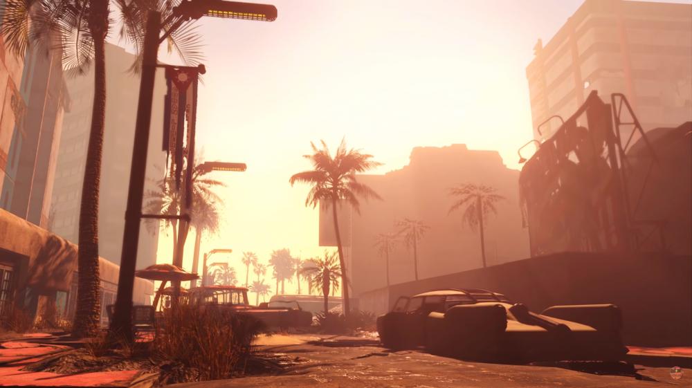 Fallout 4 лето солнце море и песок Трейлер мода Fallout Miami