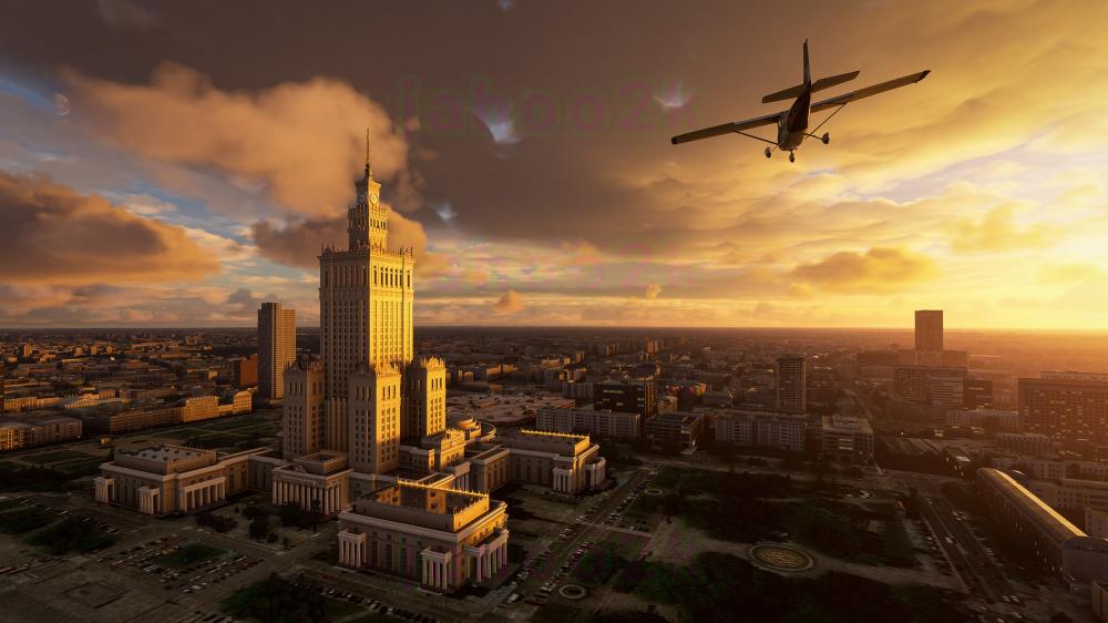 Microsoft Flight Simulator 2020 полетали над Москвой