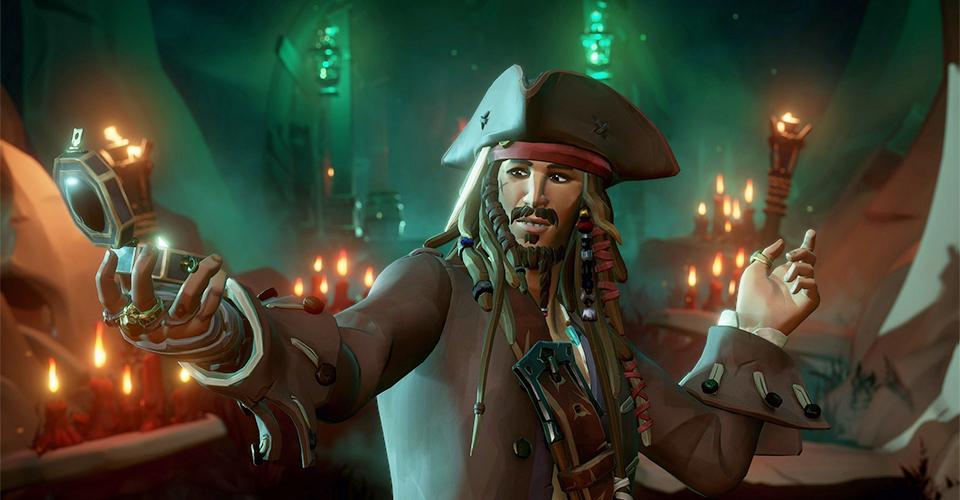Капитан Джек Воробей и Чрная жемчужина в Sea of Thieves