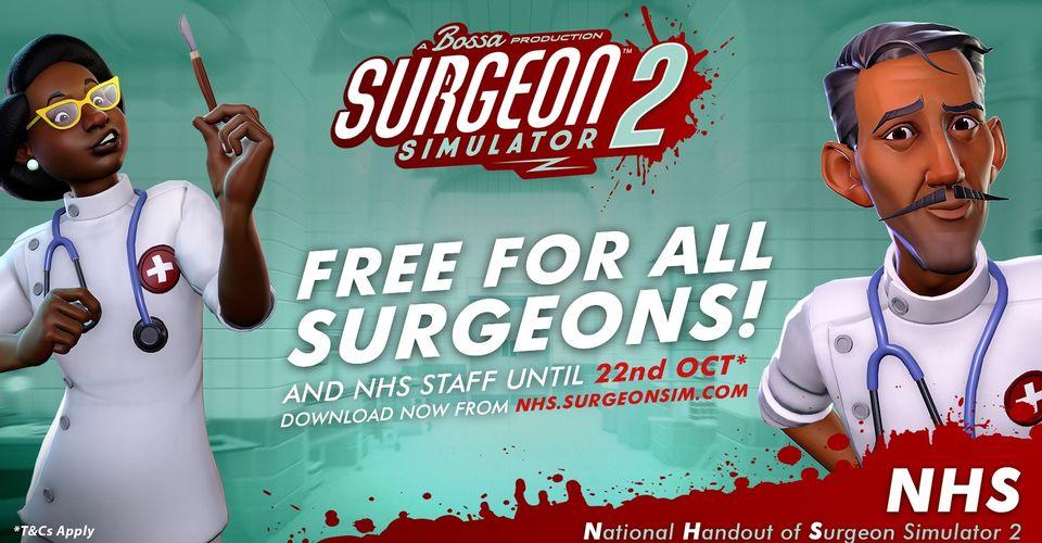 Surgeon Simulator 2 станет бесплатным для медиков в Великобритании
