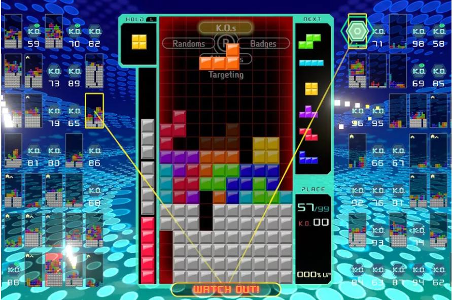 В Tetris 99 появится игра по локальной сети