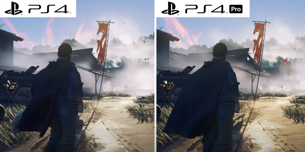 Сравнение Ghost of Tsushima  PS4 vs PS4 Pro